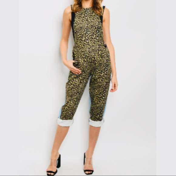 Leopard & Blue Overall/Jumper